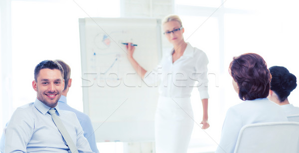 businessman on business meeting in office Stock photo © dolgachov