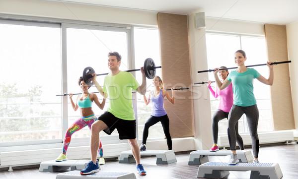 люди подготовки спортзал фитнес спорт Сток-фото © dolgachov