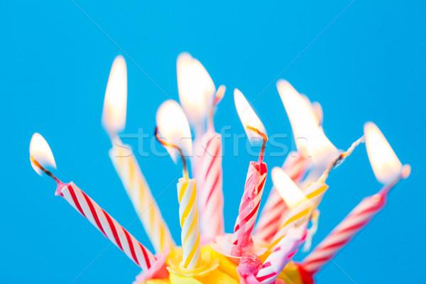 Cumpleanos muchos ardor velas vacaciones Foto stock © dolgachov
