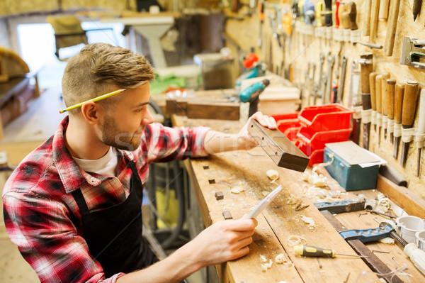 ács dolgozik fa palánk műhely hivatás Stock fotó © dolgachov