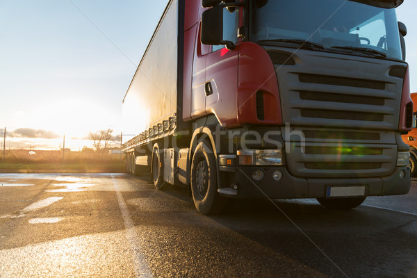 close up of truck on parking Stock photo © dolgachov