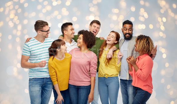international group of happy laughing people Stock photo © dolgachov