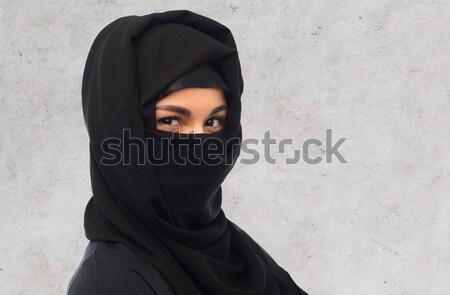 мусульманских женщину хиджабе религиозных люди Сток-фото © dolgachov