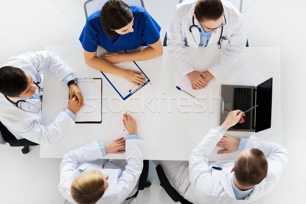 Grup doktorlar konferans hastane tıp sağlık Stok fotoğraf © dolgachov