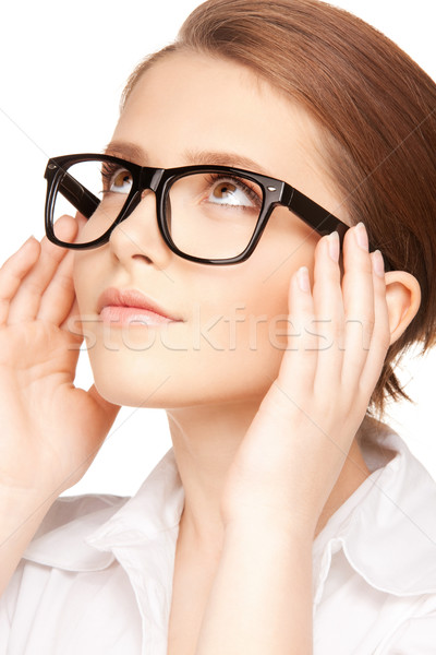 lovely woman in spectacles Stock photo © dolgachov