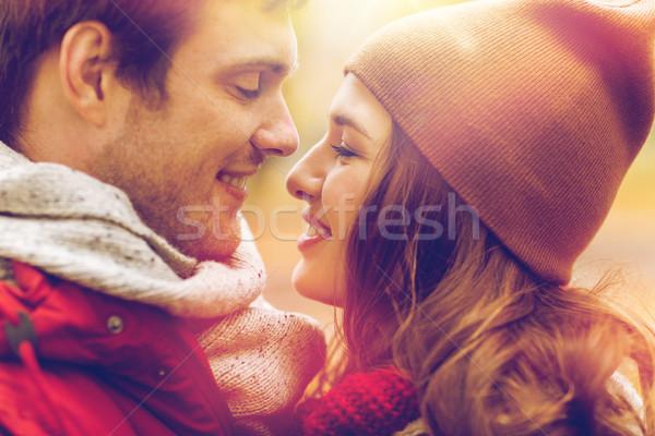 Stockfoto: Gelukkig · zoenen · buitenshuis · liefde