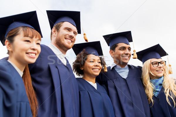 Mutlu Öğrenciler lisans eğitim mezuniyet insanlar Stok fotoğraf © dolgachov