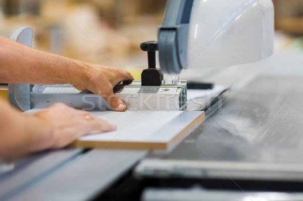 Charpentier panneau vu usine production industrie Photo stock © dolgachov