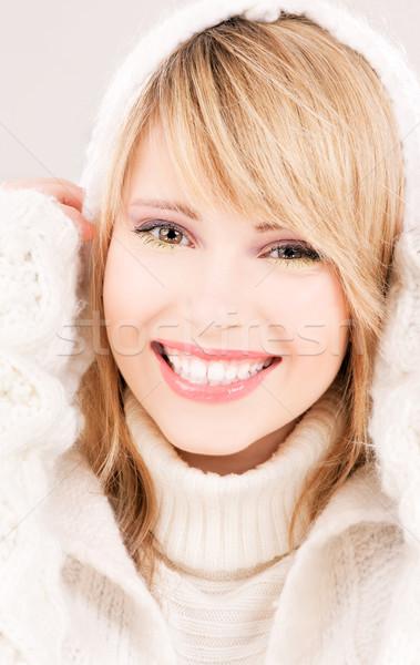 Adolescente photos femme cheveux Teen jeunes Photo stock © dolgachov
