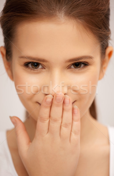 laughing woman Stock photo © dolgachov