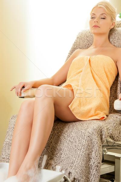 Nő fürdő szalon pedikűr gyönyörű nő test Stock fotó © dolgachov