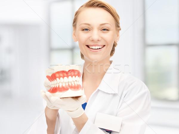 Orvos kép vonzó nő nő lány gyógyszer Stock fotó © dolgachov