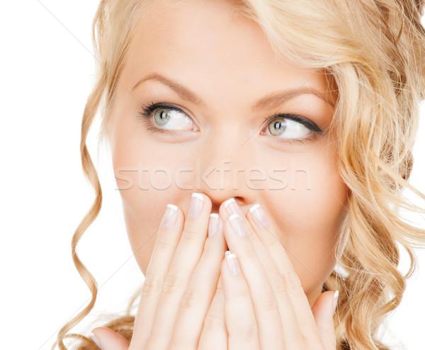 Gezicht mooie vrouw gezondheid schoonheid business Stockfoto © dolgachov