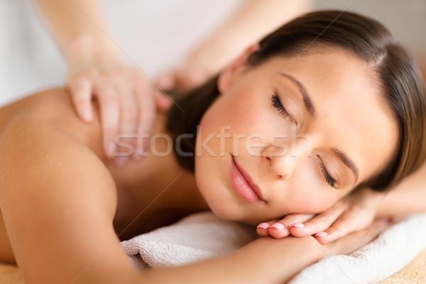 Сток-фото: красивая · женщина · Spa · салона · массаж · здоровья · красоту