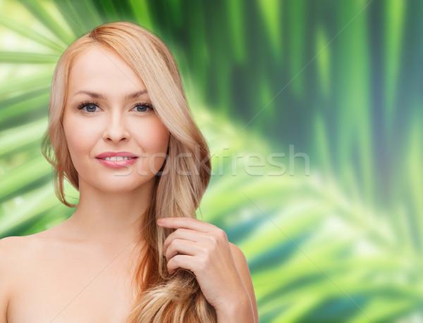 美人 演奏 長髪 美 女性 顔 ストックフォト © dolgachov