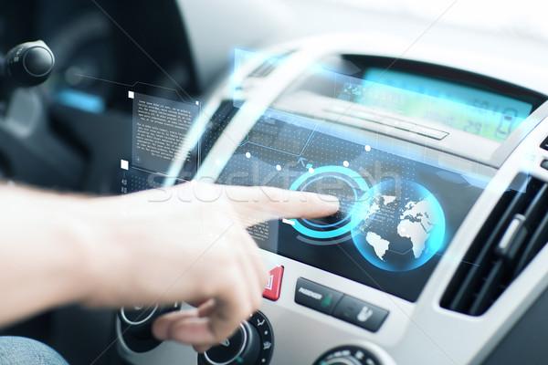 男 車 コントロールパネル 交通 車両 技術 ストックフォト © dolgachov