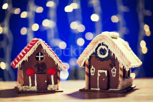 Güzel zencefilli çörek evler ev tatil Stok fotoğraf © dolgachov