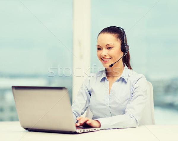 優しい 女性 ヘルプライン 演算子 ビジネス 通信 ストックフォト © dolgachov