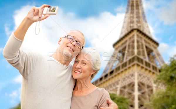 Stockfoto: Camera · Eiffeltoren · leeftijd · toerisme · reizen
