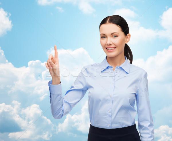 Işkadını dokunmak bir şey hayali iş teknoloji Stok fotoğraf © dolgachov