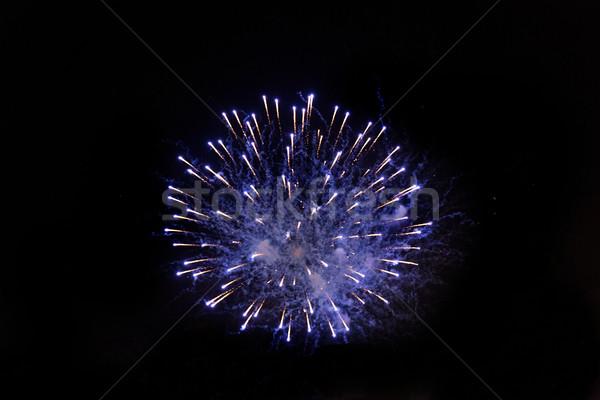Stock photo: beautiful fireworks at night sky
