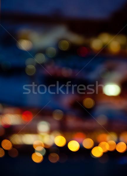 colorful bright lights on dark night background Stock photo © dolgachov