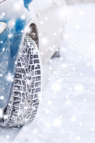 closeup of car wheel Stock photo © dolgachov