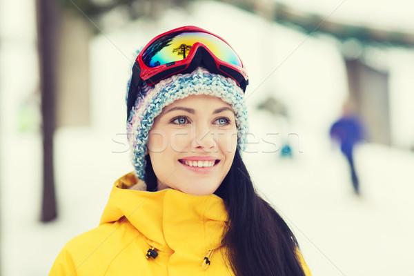 幸せ 若い女性 屋外 冬 レジャー ストックフォト © dolgachov