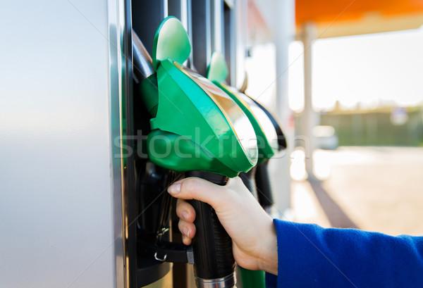 Hand tankstation object brandstof Stockfoto © dolgachov