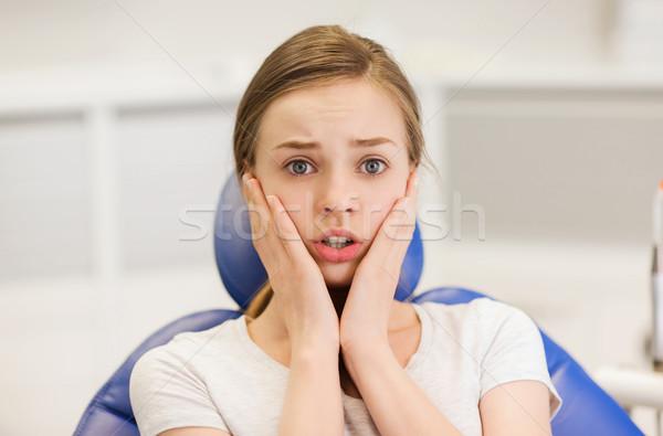 怖い 患者 少女 歯科 クリニック ストックフォト © dolgachov