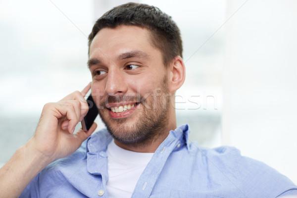 幸せ 男 呼び出し スマートフォン ホーム 技術 ストックフォト © dolgachov