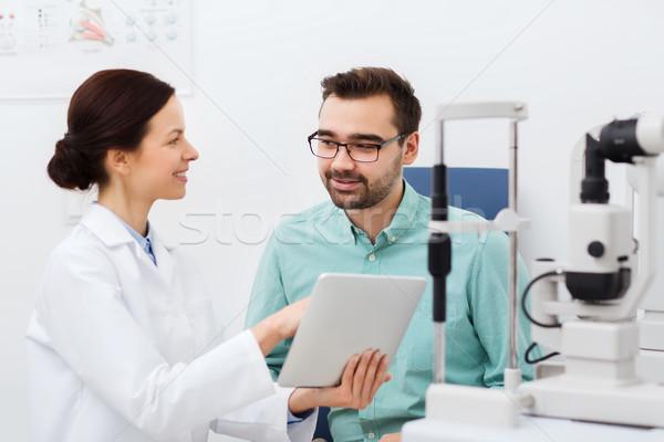 оптик пациент глаза клинике Сток-фото © dolgachov