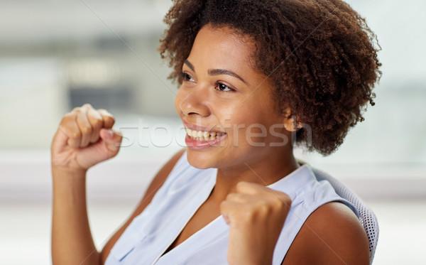 Feliz África personas emociones Foto stock © dolgachov
