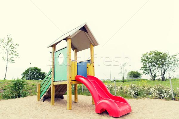 Deslizar recreio ao ar livre infância equipamento objeto Foto stock © dolgachov