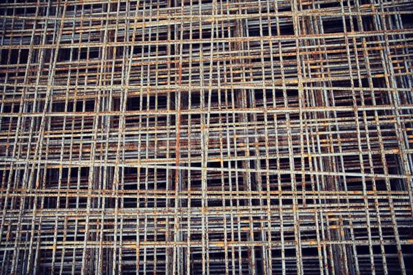 Zardzewiałe sieci budynku budowy materiału Zdjęcia stock © dolgachov