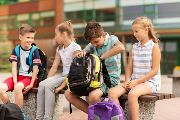 Grupo escuela primaria estudiantes primario educación amistad Foto stock © dolgachov