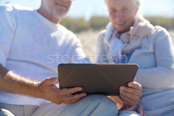 Stockfoto: Strand · familie · leeftijd