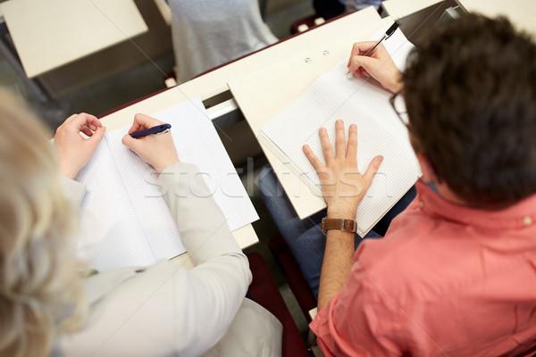 Öğrenciler yazı sınav ders eğitim Stok fotoğraf © dolgachov