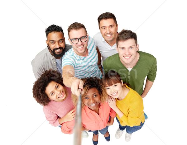 international group of happy people taking selfie Stock photo © dolgachov