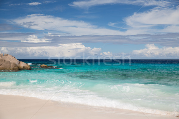 Ada plaj Hint okyanus Seyşeller seyahat Stok fotoğraf © dolgachov