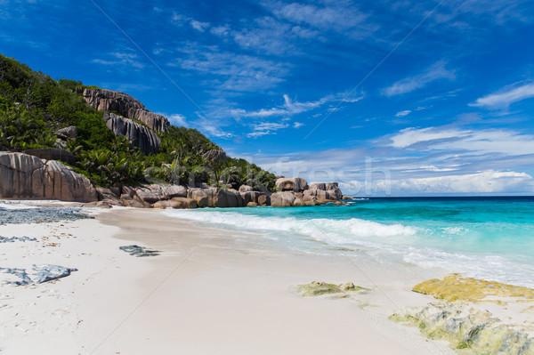 Stok fotoğraf: Ada · plaj · Hint · okyanus · Seyşeller · seyahat