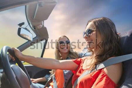 Sorridere felice giovani hippie amici Foto d'archivio © dolgachov
