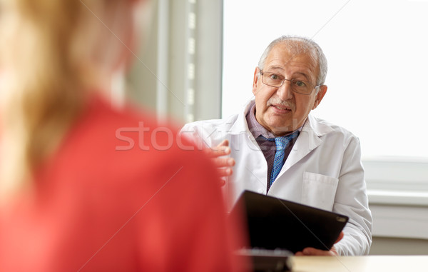 senior doctor and patient at womens health clinic Stock photo © dolgachov
