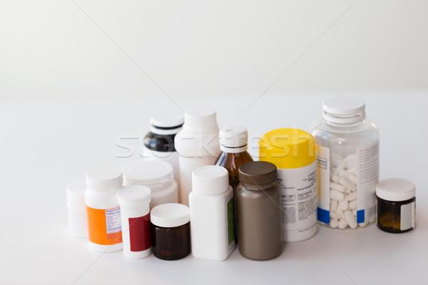 jars of different medicines Stock photo © dolgachov
