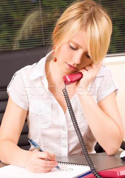 office girl Stock photo © dolgachov