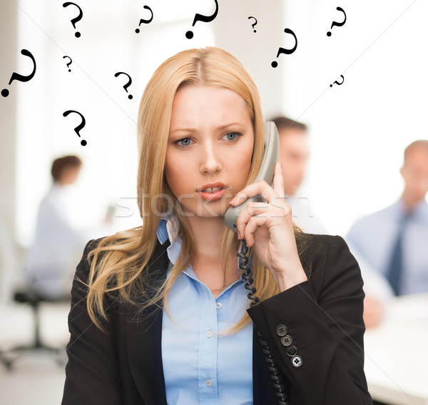путать женщину телефон служба ярко фотография девушки Сток-фото © dolgachov