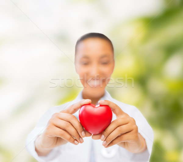 woman hands with red heart Stock photo © dolgachov