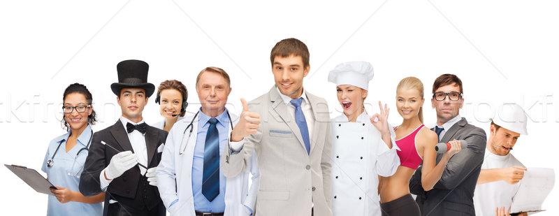 Grup insanlar meslekler insanlar işadamları doktor hemşire Stok fotoğraf © dolgachov