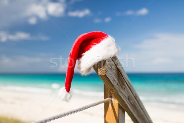 Helper hoed strand zomer Stockfoto © dolgachov