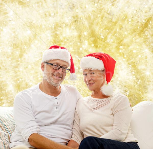 ストックフォト: 幸せ · サンタクロース · ヘルパー · 家族
